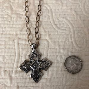 Silpada Sterling Ornate Cross Necklace